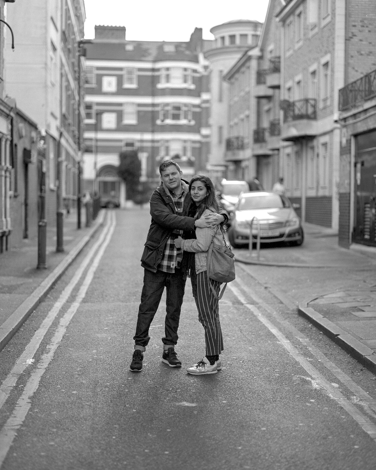 Brixton couple [Pentax 67, Takumar 105mm f2.8 - Ilford HP5]